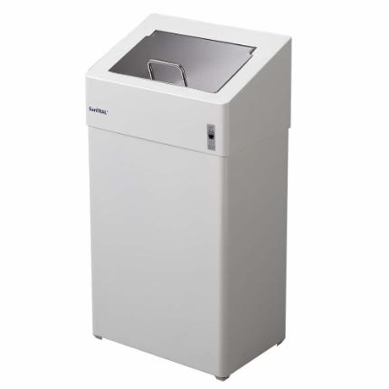1103-Sanitary bin 10 l, white stainless steel