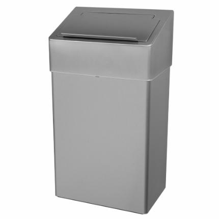 1102-Sanitary bin, 18 l, stainless steel