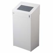 1111-Waste bin, 18 l, white stainless steel