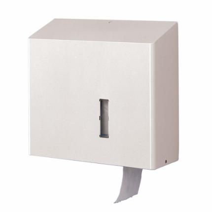1126-Toilet roll holder for 1 MAXI roll, white stainless steel