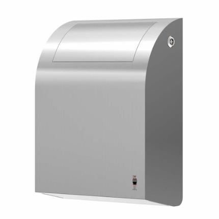 294-stainless DESIGN waste bin, 12 l with self-closing tip-down lid