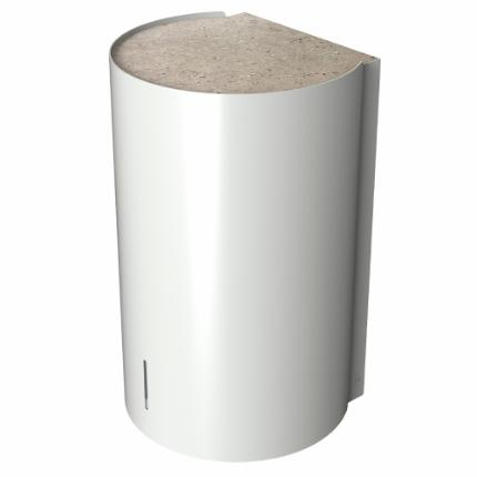 Björk hand dryer, white w/Natural Concrete top plate