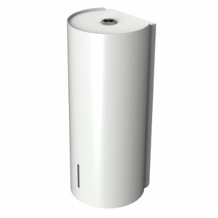 Björk soap dispenser, white w/Bianco Male top plate