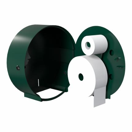 3360-BJÖRK toilet roll holder for 1 Jumbo+1 standard roll, RAL-colour