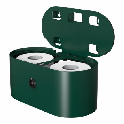 3380-Björk toilet roll holder double, RAL-colour